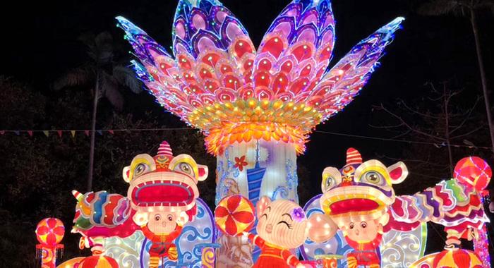 越秀花燈會扮靚廣州夜景
