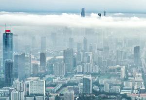 航拍廣州高空平流雲景觀 美不勝收