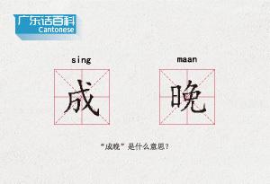 """廣東話百科:成晚(""""成晚""""是什麼意思?)"""