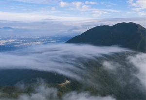 (視頻)俯瞰深圳梧桐山頂 雲海千姿百態