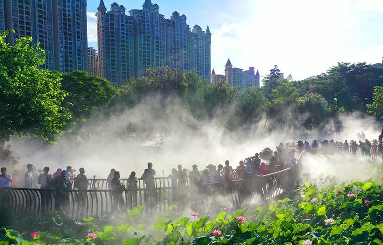 佛山亞洲藝術公園:霧裏看花 花更美