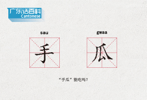 """廣東話百科:手瓜(""""手瓜""""能吃嗎?)"""