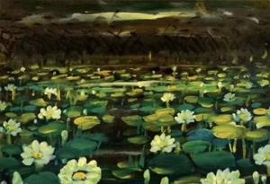 林風眠油畫《小百蓮圖》大型組畫遺珍展在廣州舉行