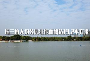 珠三角人均公園綠地面積達19.2平方米
